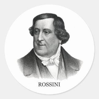 Gioachino Rossini, black Classic Round Sticker