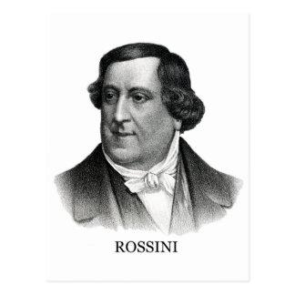 Gioachino Rossini, black Postcard