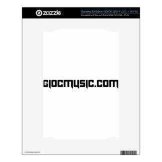 GioCmusic.com Skin For The NOOK