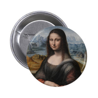 """Gioconda """"del Prado Museum"""" - da Vinci (1510-1515) Pin Redondo 5 Cm"""