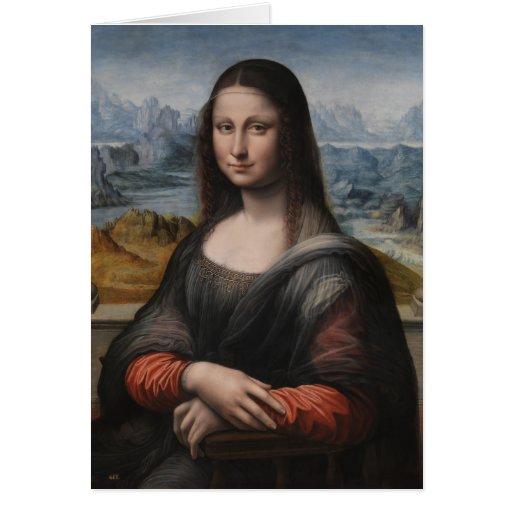 """Gioconda """"del Prado Museum"""" - da Vinci (1510-1515) Felicitaciones"""