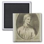 Giordano Bruno 2 Inch Square Magnet