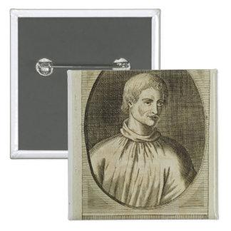 Giordano Bruno 2 Inch Square Button