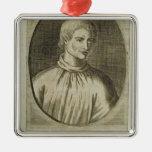 Giordano Bruno Metal Ornament