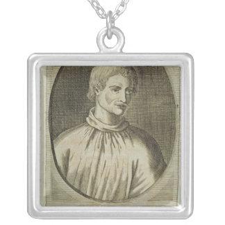 Giordano Bruno Square Pendant Necklace