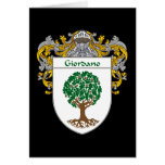 Giordano Coat of Arms (Mantled) Card