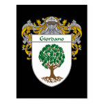Giordano Coat of Arms (Mantled) Post Cards
