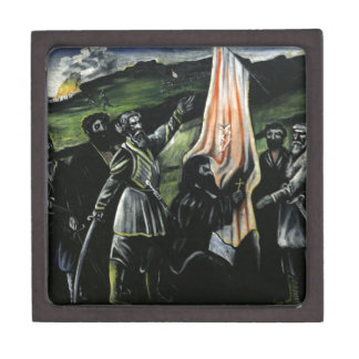 Giorgi Saakadze defending Georgia from enemies Keepsake Box