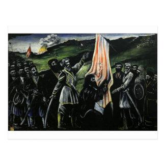 Giorgi Saakadze defending Georgia from enemies Postcard