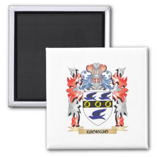 Giorgio Coat of Arms - Family Crest 2 Inch Square Magnet
