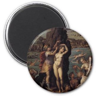 Giorgio Vasari: Perseus and Andromeda 2 Inch Round Magnet