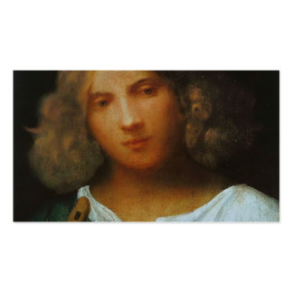 Giorgione- Boy with flute Double-Sided Standard Business Cards (Pack Of 100)