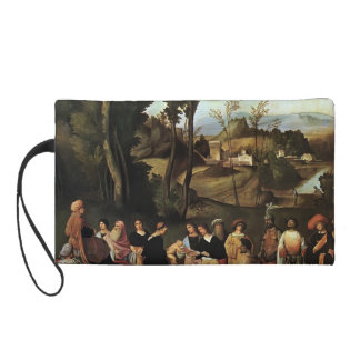Giorgione- Moses Undergoing Trial by Fire Wristlet Clutch