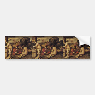 Giorgione- Pastoral Concert (Fête champêtre) Car Bumper Sticker