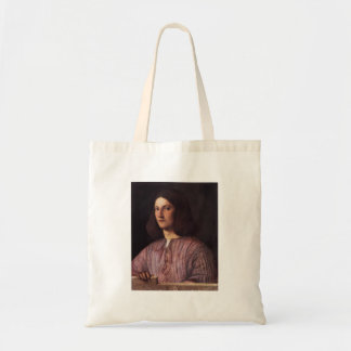 Giorgione- Portrait of young man Canvas Bags