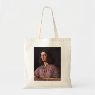 Giorgione- Portrait of young man Tote Bags
