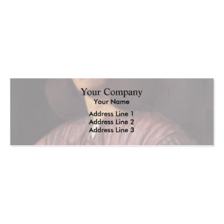 Giorgione- Portrait of young man Business Card Templates