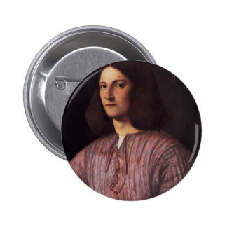 Giorgione- Portrait of young man Pinback Buttons