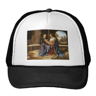 Giorgione- The Holy Family (Madonna Benson) Mesh Hat