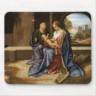 Giorgione- The Holy Family (Madonna Benson) Mouse Pads