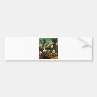 Giorgione The Tempest Bumper Sticker