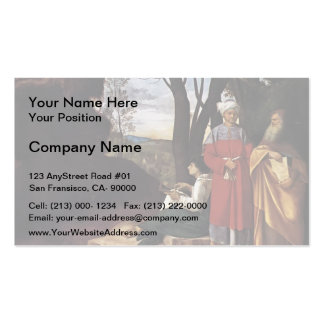 Giorgione- The Three Philosophers Business Card Template