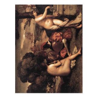 Giorgione Titian (quién acabó probablemente el pai Postales