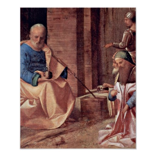 Giorgione,Virgin+and+Christ+child,ox+and+ass,Giorg Print