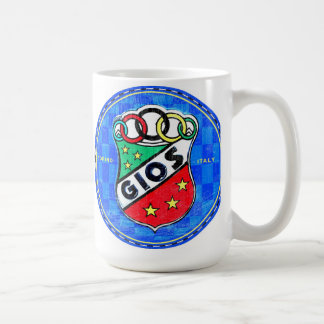 Gios bicycles sign coffee mug