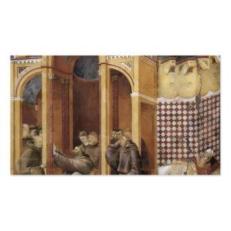 Giotto: Aparición a Fra Agustín, obispo Guido Tarjetas De Visita