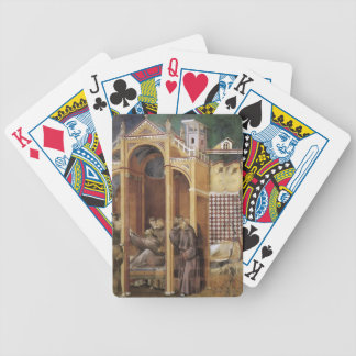 Giotto: Apparition to Fra Agostino, Bishop Guido Playing Cards