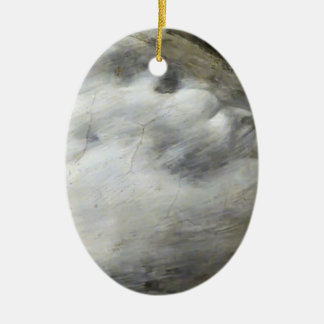 Giotto:Death and Ascension of St. Francis (detail) Double-Sided Oval Ceramic Christmas Ornament