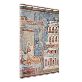 Giotto di Bondone - A dream of St Francis Stretched Canvas Print