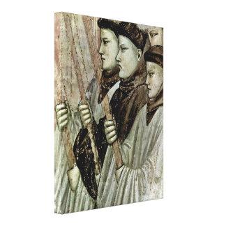 Giotto di Bondone - Confirmation of the stigmata Stretched Canvas Print