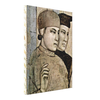 Giotto di Bondone - Confirmation of the stigmata Gallery Wrapped Canvas