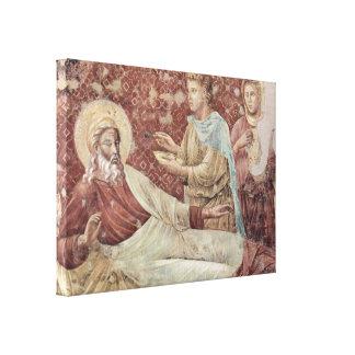 Giotto di Bondone - Isaac rechaza Esau Lona Envuelta Para Galerías