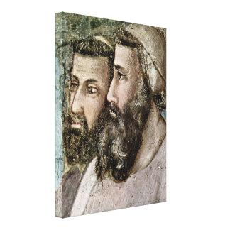 Giotto di Bondone - The confirmation of the rule Canvas Prints