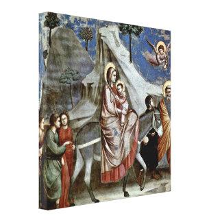 Giotto di Bondone - vuelo a Egipto Lienzo Envuelto Para Galerias