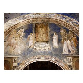 Giotto: Dios envía a Gabriel a la Virgen Tarjetas Postales