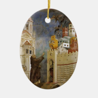 Giotto: Exorcism of the Demons at Arezzo Christmas Tree Ornaments