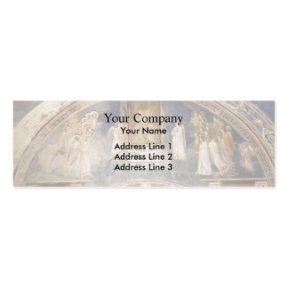 Giotto God Sends Gabriel to the Virgin Business Card Template