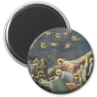 Giotto Lamentation of Christ, 1305 2 Inch Round Magnet