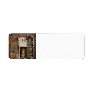 Giotto: Milagro del crucifijo Etiqueta De Remite