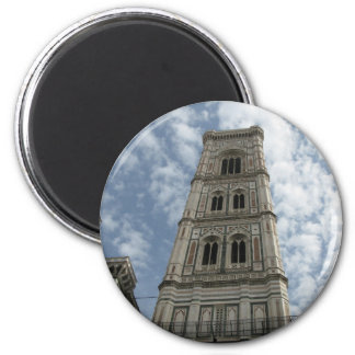Giotto's Tower, Florence, Italy 2 Inch Round Magnet