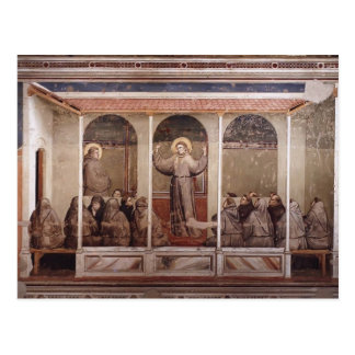 Giotto: St Francis aparece a St Anthony en Arles Tarjeta Postal
