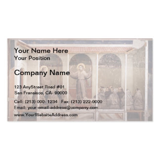 Giotto:St. Francis Appears to St. Anthony in Arles Double-Sided Standard Business Cards (Pack Of 100)
