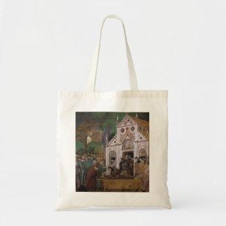 Giotto: St Francis estuvo de luto por St. Clare Bolsa Lienzo