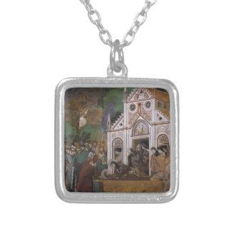 Giotto: St Francis estuvo de luto por St. Clare Collar Personalizado