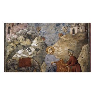 Giotto:St. Francis Giving his Mantle to a Poor Man Double-Sided Standard Business Cards (Pack Of 100)