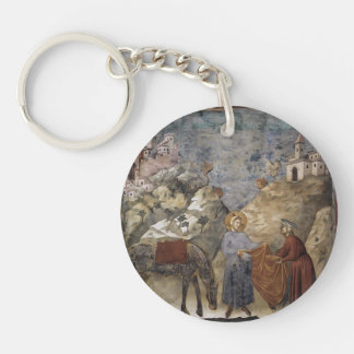 Giotto:St. Francis Giving his Mantle to a Poor Man Acrylic Keychain